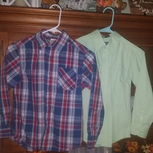 Chaps and Faded Glory button up shirts